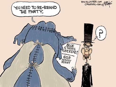 Conservative Political Cartoon House Divided Of The Living Dead