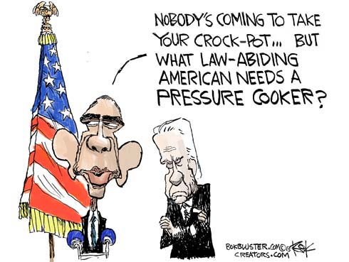 Barack Obama says nobody's coming to take your crock pot, but what law-abiding American needs a pressure cooker?