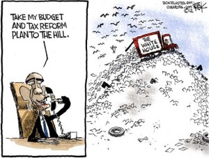 2012 Obama budget and tax reform plan that won't likely be taken by Senator Harry Reid.